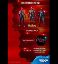 PS4 Spider-Man Pre-Order Bonus - Spidey Suit Pack, Drone, Avatar & Theme DLC