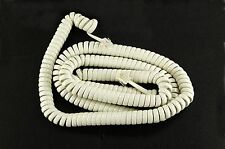 18Ft White Coiled Telephone Cord with Phone Jacks