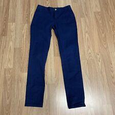 Old Navy Boys Pants Sz 12 Regular Navy Blue Uniform Skinny Leg Chinos Va18