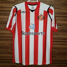 Umbro Mens XL Sunderland AFC Soccer Futbol Jersey Red White Official Product