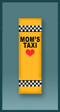 MOM'S TAXI CAR MEZUZAH WITH TRAVELERS PRAYER PROTECTION SCROLL IN HEBREW