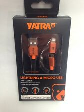 NEW OEM iPhone 6 5 S ANDROID LIGHTNING Micro USB Charger Cable  ORIGINAL YATRA A