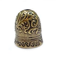 Antique Brass Plated Alloy Large Flower Bell Tassel Pendant Bead Caps Q4 per Pkg