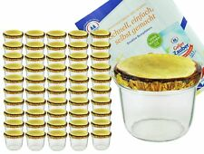 50 Sturzgläser 230ml Marmeladengläser Einmachgläser Einweckglas Holz Deko Rezept