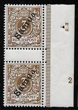 German Samoastamps 1900 Mi 1Zs GutterPair Mnh Vf