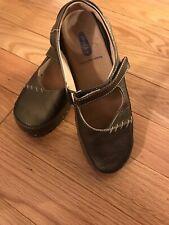 Wolky Sling Back MaryJane Shoes Womens 39(8-8.5) MetallicBronze Staple Style EUC