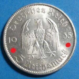! Drittes Reich Silber 5 Mark 1935 A vz-unz aunc Garnisionskirche ERHALTUNG !