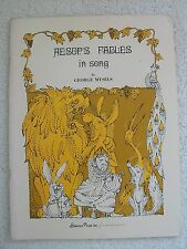 Aesop's Fables in Song Geo Mysels Voice Piano Guitar Unmarked