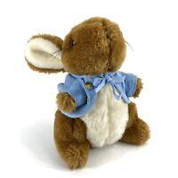 "Eden Vintage Peter Rabbit Beatrix Potter Brown Plush Stuffed Animal Toy Small 7"""