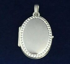 NEW Sterling Silver Oval Locket 925 S/S Can Fit Two Photos Free Shipping Option