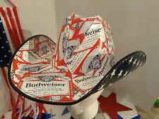 🍺2021 NEW! Patriotic BUDWEISER Cowboy Cowgirl HAT Beer Box OSFM  Anheuser Busch