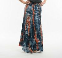 Hand Dyed Casual Boho Gypsy Hippie Long Broomstick Peasant Women Skirt