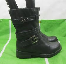 new ladies Black Lace  Combat Riding Winter Sexy Ankle Boots Size 5.5