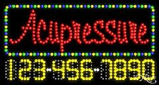 """New """"Acupressure"""" 32x17 w/Your Phone Number Solid/Animated Led Sign 25037"""