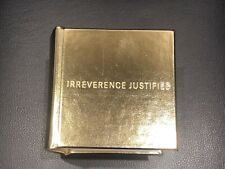 Nike Gold Book Irreverence Justified Sneakers Bible Limited Edition 2000