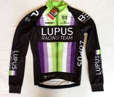 New 2016 Men's Biemme Lupus Cycling LS Thermal Jersey, Black/Green, size XS
