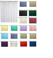 Solid Shower Curtain Liner Mildew Free Vinyl Waterproof Solid Liner 70' x 72'