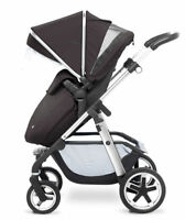 Silver Cross Pioneer Pram and Pushchair Single Seat Stroller, Black