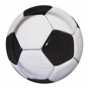 """Football 7"""" Plates - Pack of 8"""