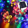 50 Led Solar Blossom Flower Fairy String Lights Lamp Outdoor Garden Wedding