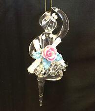 New Vintage Terry's Village Hand Blown Glass Ballerina Christmas Tree Ornament