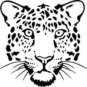 Leopard Face Vinyl Decal Sticker for Car/Window/Wall