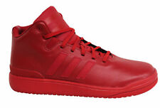 Adidas Originals Veritas Mid Lace Up Red Leather Mens Trainers S75635 B27E