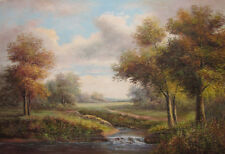 Canvas Wall Art Modern Decor Oil Painting Hand Painted,Country Road,91 X 61 cm