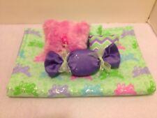 Green Bunnies Bedding Set For Barbie, Monster High, Or Bratz Dolls