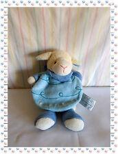 E / T - Doudou Peluche Gaston Le Petit Mouton  Cape Bleue  Doudou et Compagnie