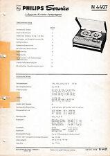 Service Manual-instrucciones para Philips n 4407