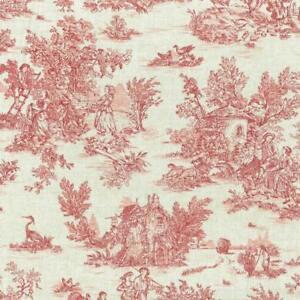Textiles français Mini Toile de Jouy Fabric (La Vie Rustique) - Antique Red