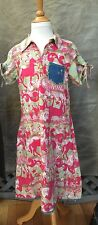 OILILY CAROUSEL Horses DRESS ROUND 'N ROUND Girls 140 9 10 11 VTG County Fair