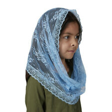 Child's Infinity Chapel Veil - Light Blue