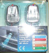 7033 Par Microlampade Adhesivo Cromo Viga Luz Blanca