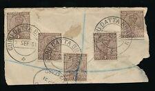 INDIA KG5 1931 GURU DATTA BHAVAN POSTMARKS on PIECE