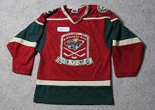 MINNESOTA WILD Hockey School Jersey Youth Size S SIGNED Wes Walz #37 K1 USA