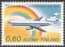 Finland 1973 Finnair/Planes/Aircraft/Flight/Aviation/Transport/Rainbow 1v n25266