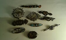 Job Lot Victorian Silver Brooches inc.Charles Horner Spares or Repair