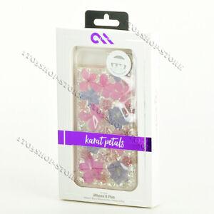 Case Mate Karat Purple Petals Real Flowers Case For iPhone 7 Plus iPhone 8 Plus