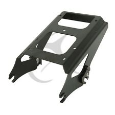 Two-Up nero Tour Pak Pack montaggio Rack per Harley Touring modelli 2009-2013