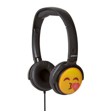 GROOV-E EARMOJI EMOJI KIDS DJ STYLE STEREO HEADPHONES - KISSING FACE - GV-EMJ14