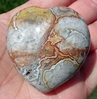 Crazy Lace Agate Crystal Healing Heart Point Super Colors and Vein Lines