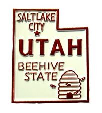 Utah the Beehive State Souvenir Fridge Magnet