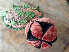 2 Antique Pincushions, Puzzle Ball, Crochet Pineapple