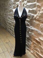 Marcelane Black Long Dress With Bead Detail Size 10