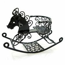 Black Wire Nursery New Rocking Horse Chair 1:12 Doll's House Dollhouse Miniature