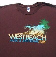 West Beach 2008 SB concert LARGE T-SHIRT marley mraz +