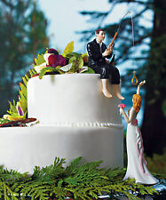 """""""Hooked on Love"""" Fishing Couple WEDDING Cake Topper CUSTOMIZATION Available"""