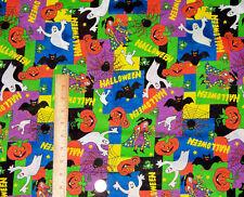 Halloween Favorites Collage Patchwork Signature Classics Fabric Quilt 1 yd